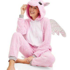Peace, Love & Fashion Pink Unicorn Onesie